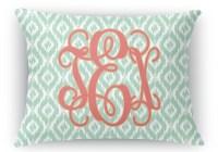 Monogram Rectangular Throw Pillow (Personalized ...