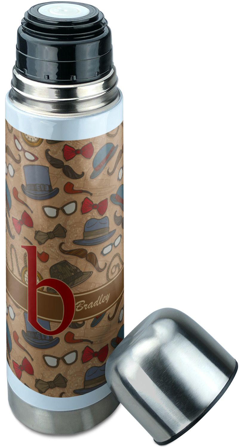 Vintage Hipster Stainless Steel Thermos Personalized