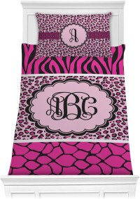 Triple Animal Print Comforter Set - Twin (Personalized ...
