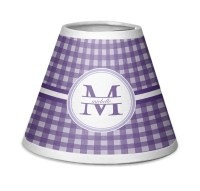 Gingham Print Chandelier Lamp Shade (Personalized
