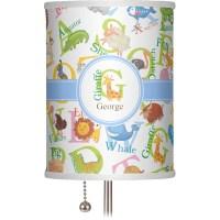 "Animal Alphabet 7"" Drum Lamp Shade Linen (Personalized ..."