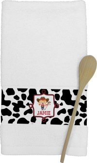 Cowprint Cowgirl Kitchen Towel (Personalized)