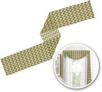 Green & Brown Toile & Chevron Window Sheer Scarf Valance ...