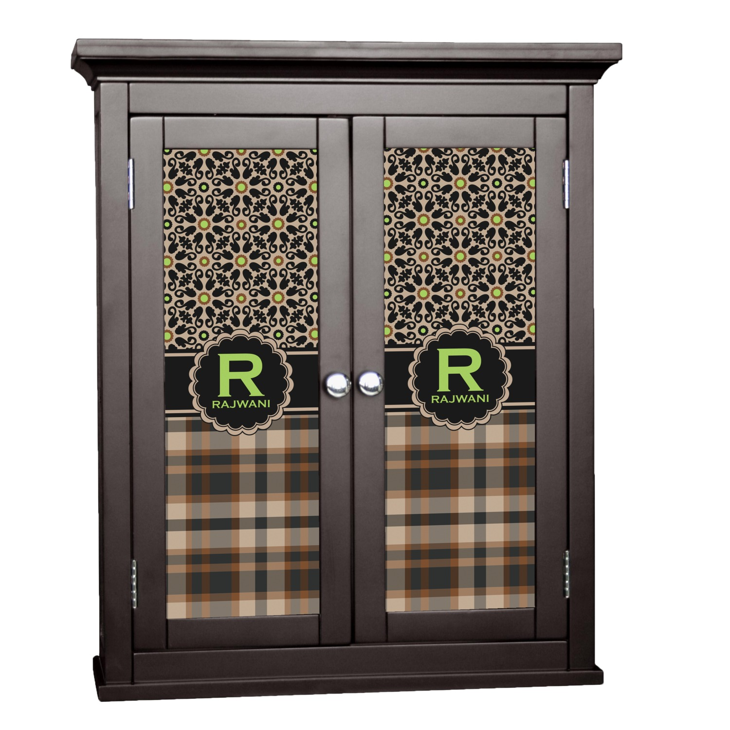 Moroccan Mosaic Plaid Cabinet Decal Small
