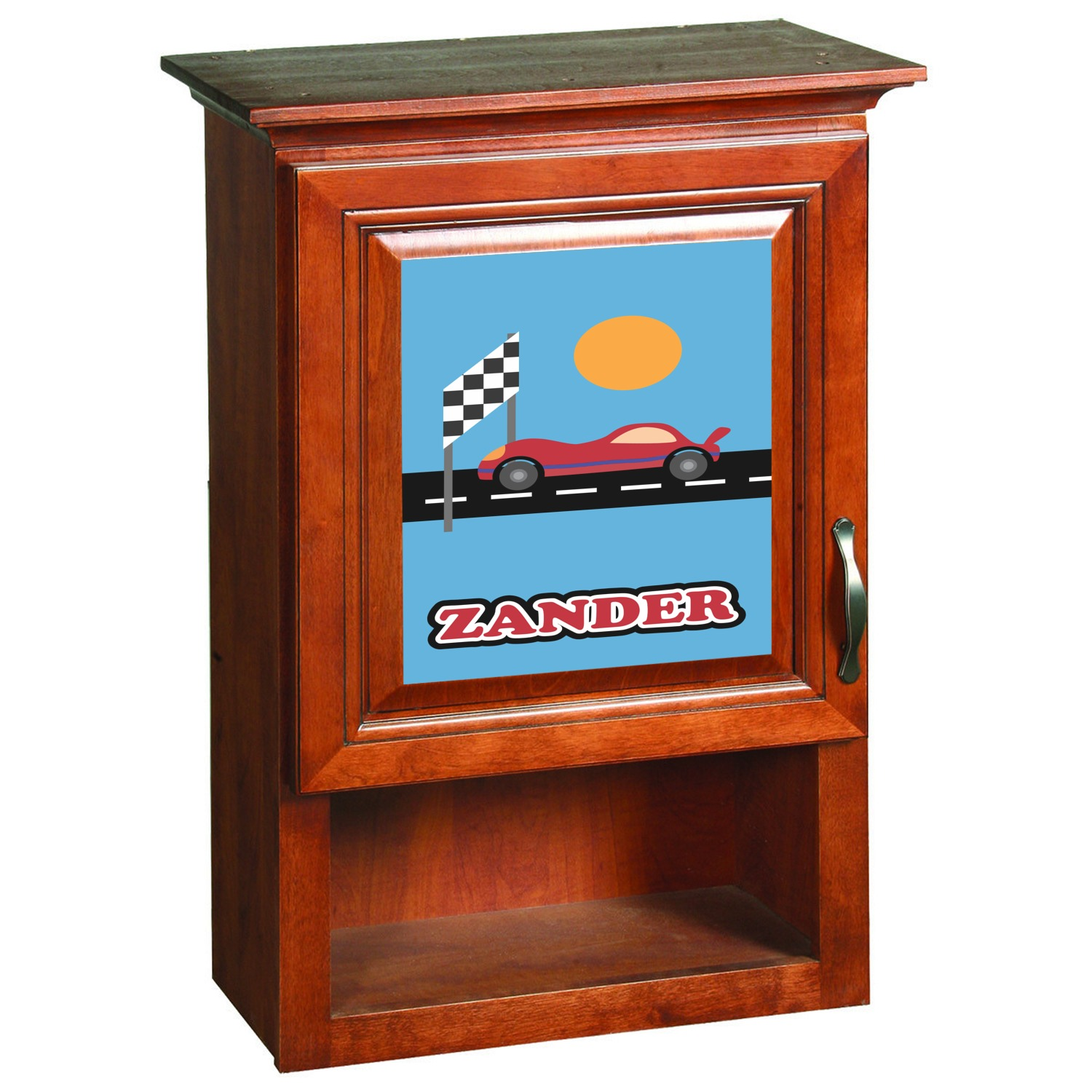 Race Car Cabinet Decal Large Personalized Youcustomizeit
