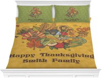 Happy Thanksgiving Comforter Set - King (Personalized ...