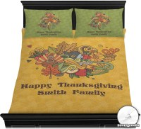 Happy Thanksgiving Duvet Cover Set (Personalized ...