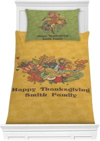 Happy Thanksgiving Comforter Set (Personalized ...