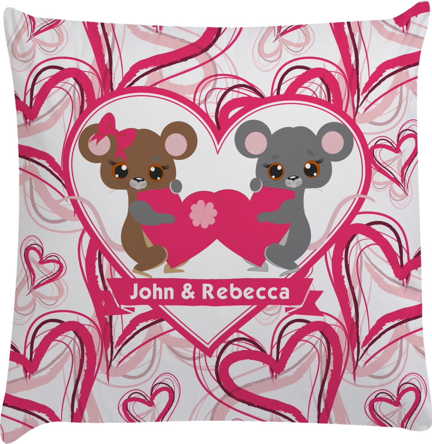 Valentine39s Day Decorative Pillow Case Personalized