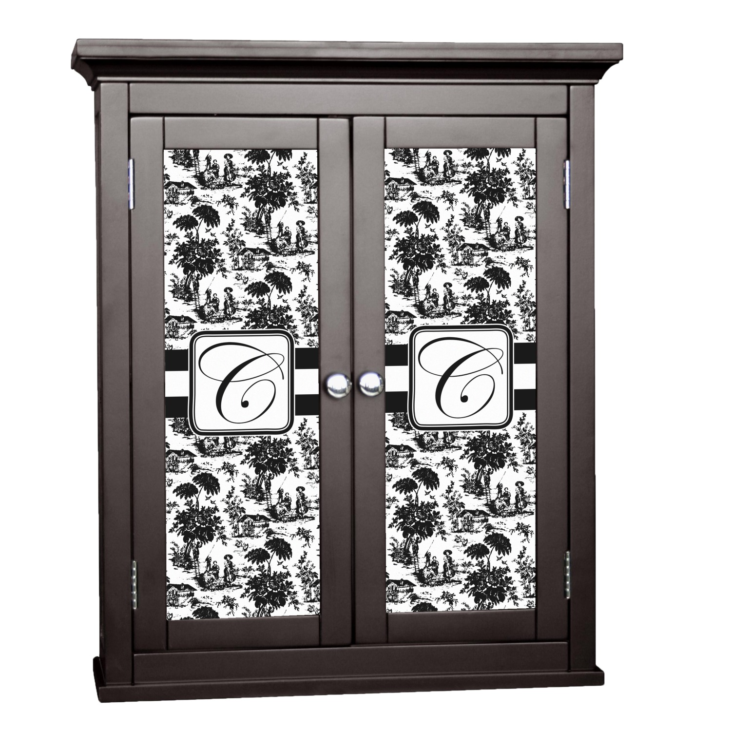 Toile Cabinet Decal Large Personalized Youcustomizeit