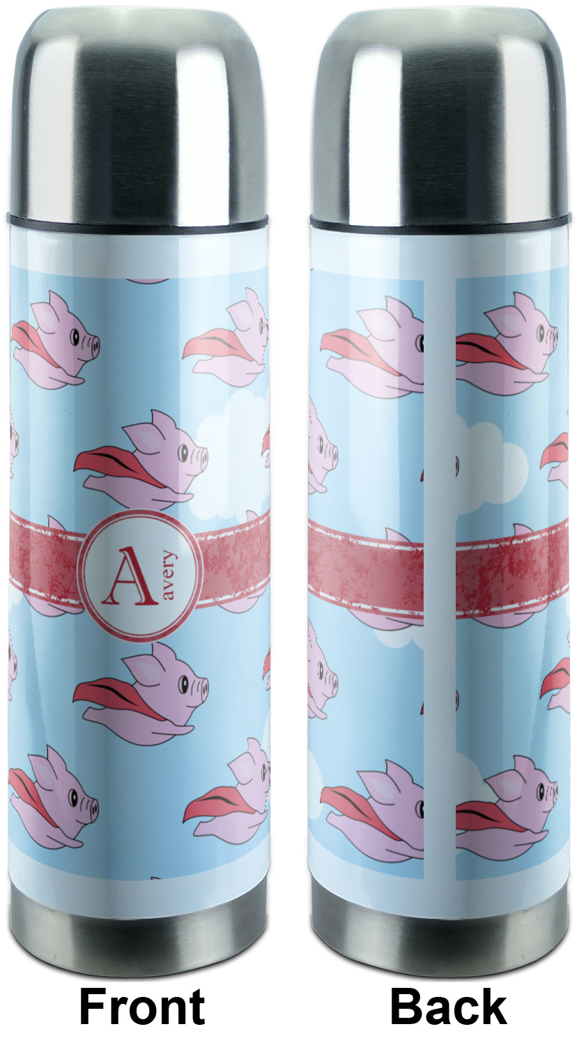Flying Pigs Stainless Steel Thermos Personalized