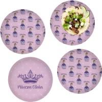 Custom Princess Set of 4 Glass Lunch / Dinner Plate 10 ...