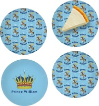 Custom Prince Set of 4 Glass Appetizer / Dessert Plate 8 ...