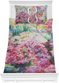 Watercolor Floral Comforter Set - Twin XL - YouCustomizeIt