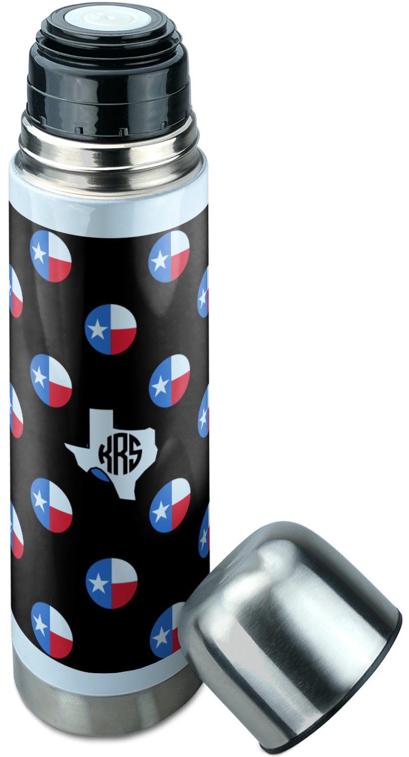 Texas Polka Dots Stainless Steel Thermos Personalized