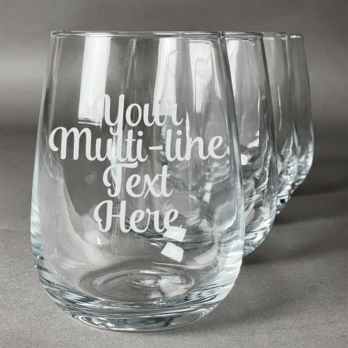 Medium Crop Of Personalized Stemless Wine Glasses