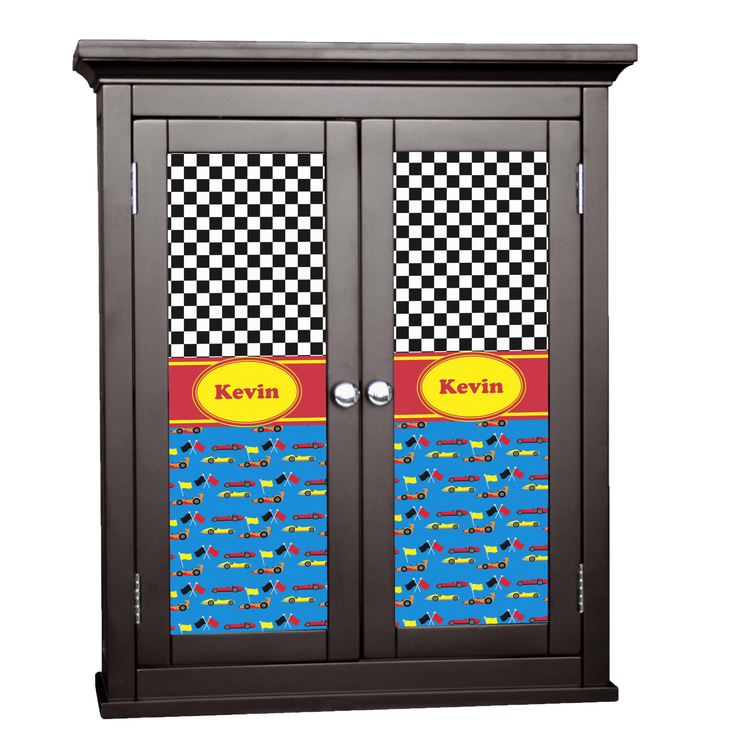 Racing Car Cabinet Decal Large Personalized
