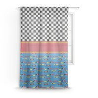 Racing Car Sheer Curtains (Personalized) - YouCustomizeIt
