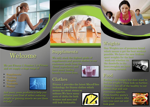 Fitness 1 Brochure-Back - Cheap Website Design Melbourne - You Go - Fitness Brochure