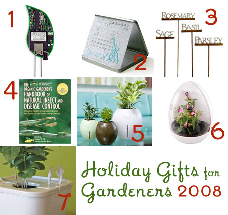 Holiday Gifts for Gardeners 2008