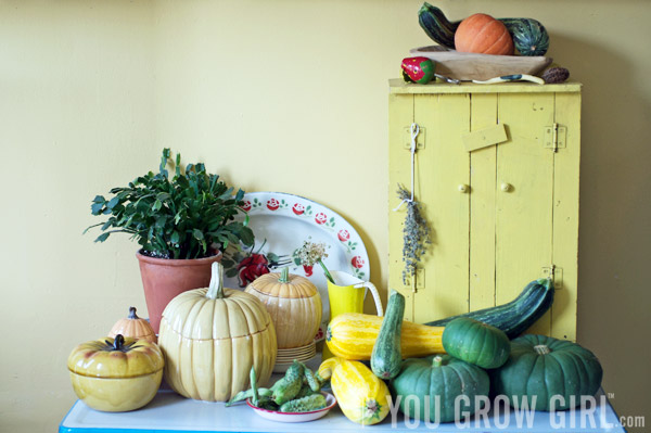 Squashes in my kitchen