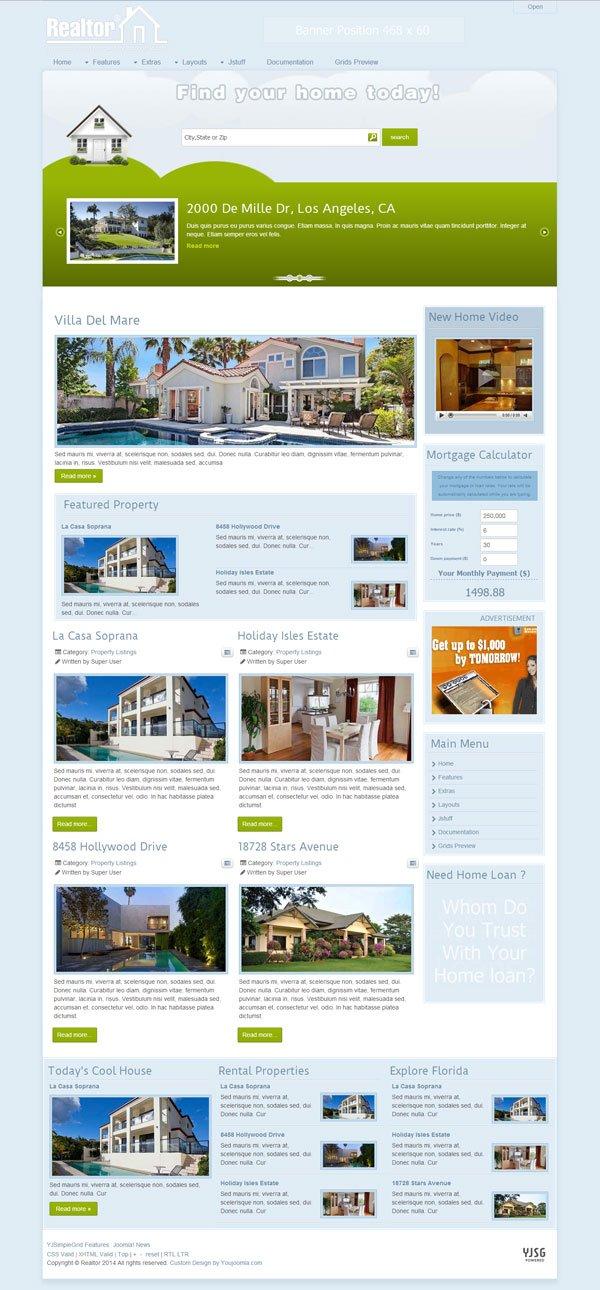 Realtor®- Joomla Real Estate Template
