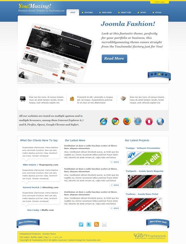 YouMazing - Developer Portfolio Template - online portfolio template