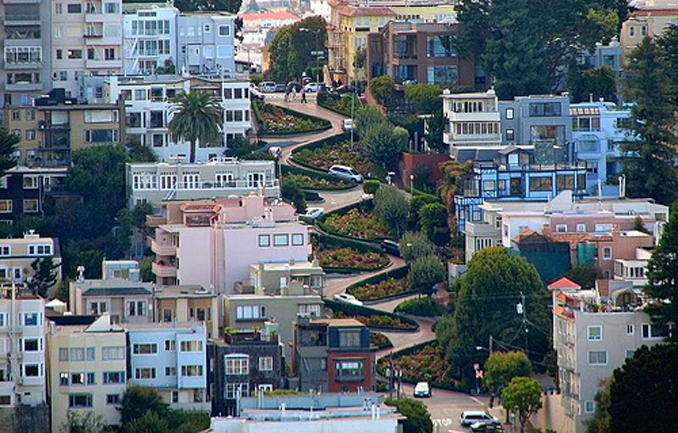 Car Curvy Road Wallpaper The Crookedest Street In The World Lombard Street San
