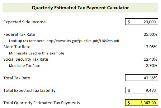 How to Calculate and Pay Quarterly Estimated Taxes Young Adult Money - Income Tax Calculator