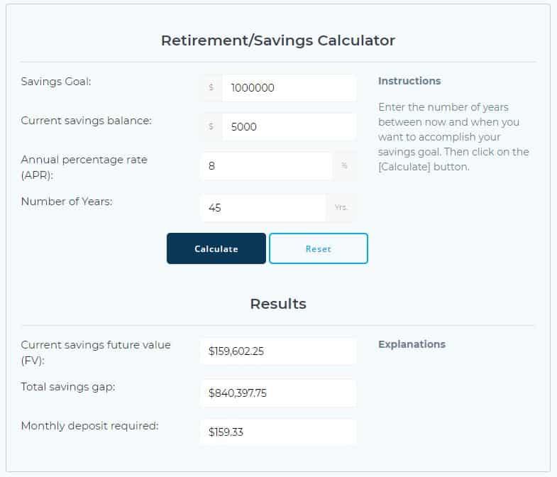 Savings/Retirement Calculator - Young, Dumb, and NOT Broke?!