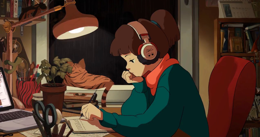 Anime Girl Studying Wallpaper The Low Down On Lo Fi Young Hollywood