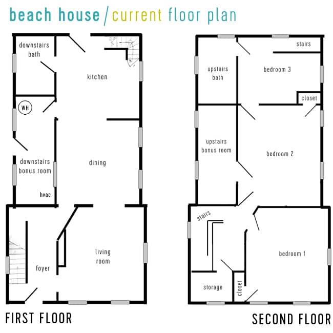Beach House Video Tour  Floor Planning Young House Love Bloglovin\u0027