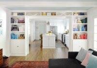 Adding Built-In Bookshelves Around Our Living Room Doorway ...