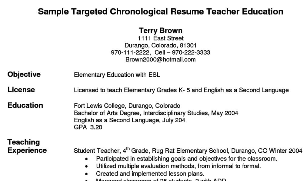 A Teaching Resume Needs Tailoring Too!