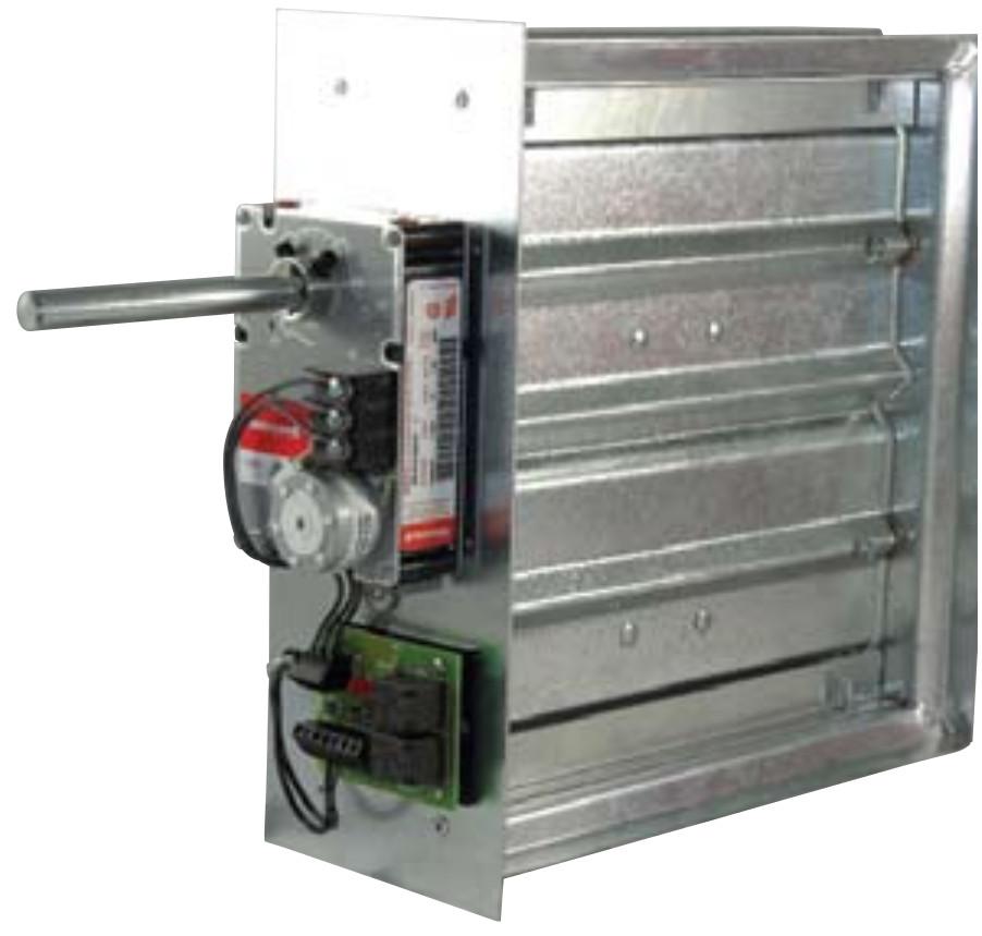 2045 Medium Pressure VAV Damper - Auto Changeover w/ Relay - Young