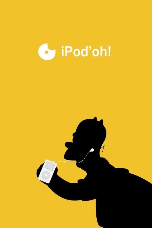 The Simpsons Iphone Wallpaper Homer Ipod Image Et Logo Anim 233 Gratuit Pour Votre Mobile