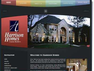 Construction Website Design for Harrison Homes :: Your Web Guys
