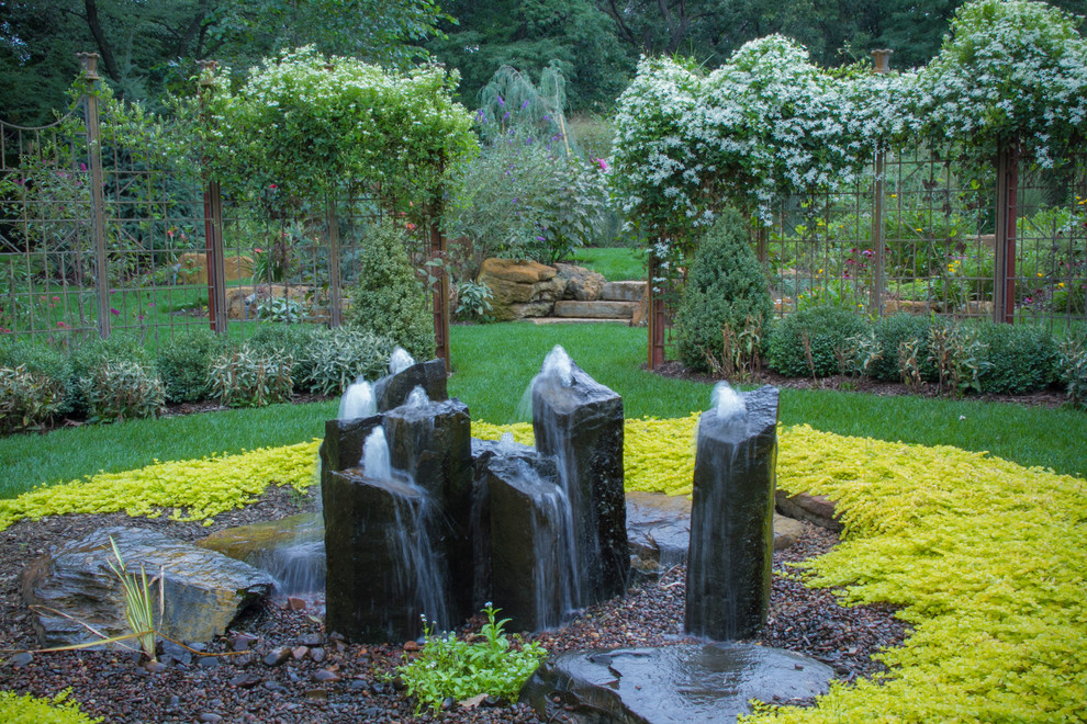 rustic water fountains for landscaping