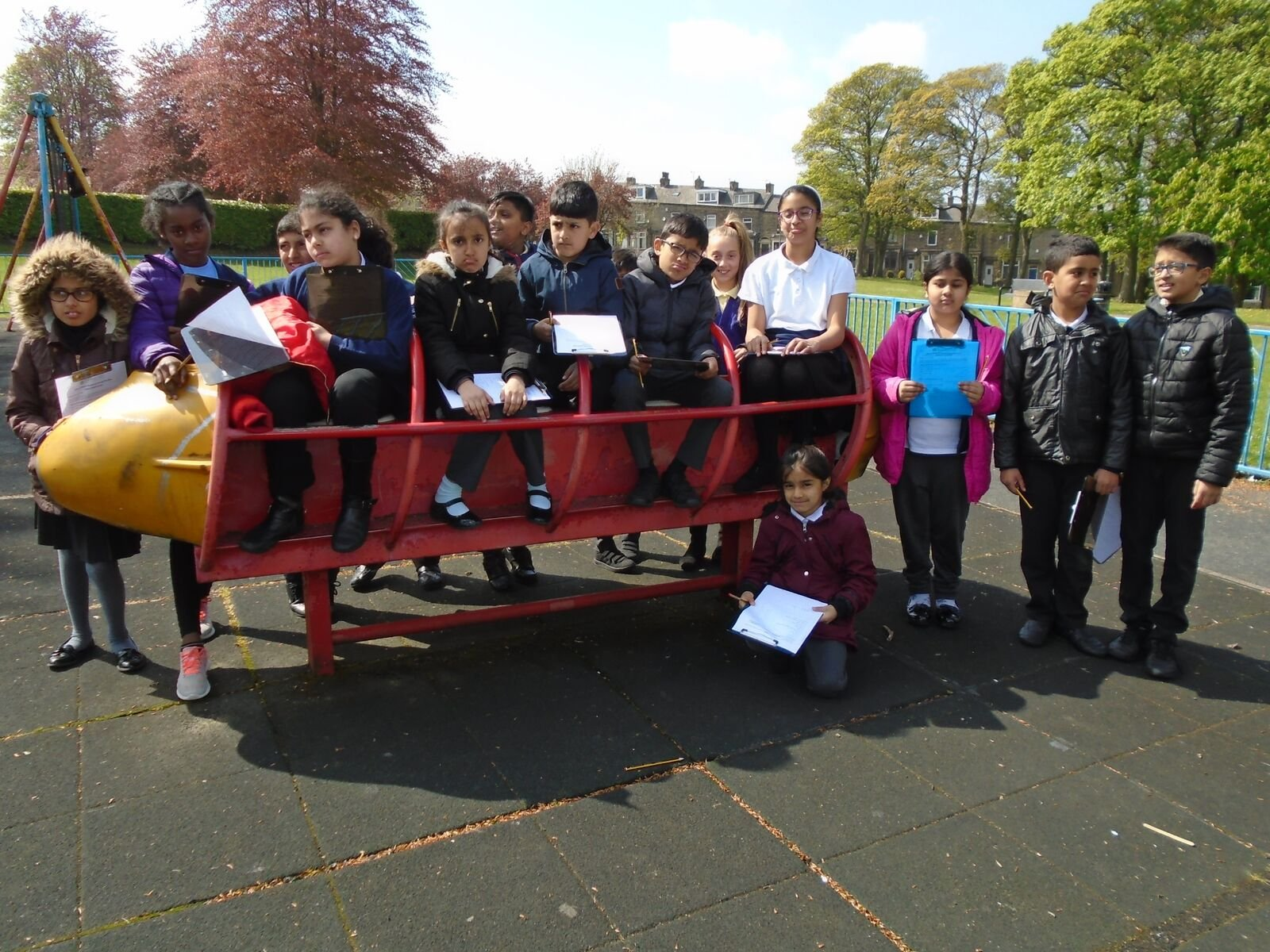Hopefully we can make the children from Hollingwood Primary School a bit happier with the equipment in the playground!