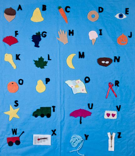 Alphabet Animals - Felt or paper animals for flannel board or desk