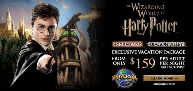 Wizarding World of Harry Potter Exclusive Vacation Package