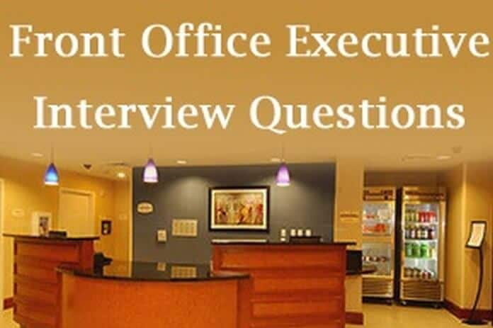 Front Office Executive Interview Questions and Answers HR Letter