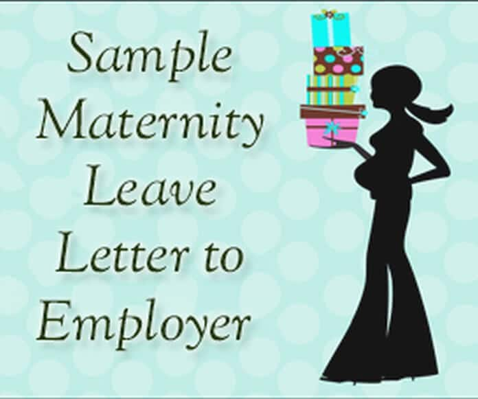 maternity leave letter sample