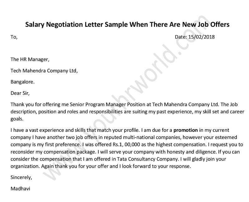 How to Negotiate a Salary Salary Negotiation Letter after New Job
