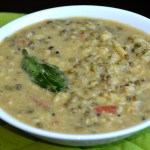 Sprouted Moong Dal Curry (Mooga Gathi)