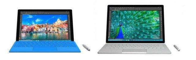 Microsoft Surface Pro 4 e Surface Book