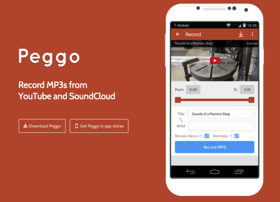 Scaricare musica da YouTube su Android Peggo