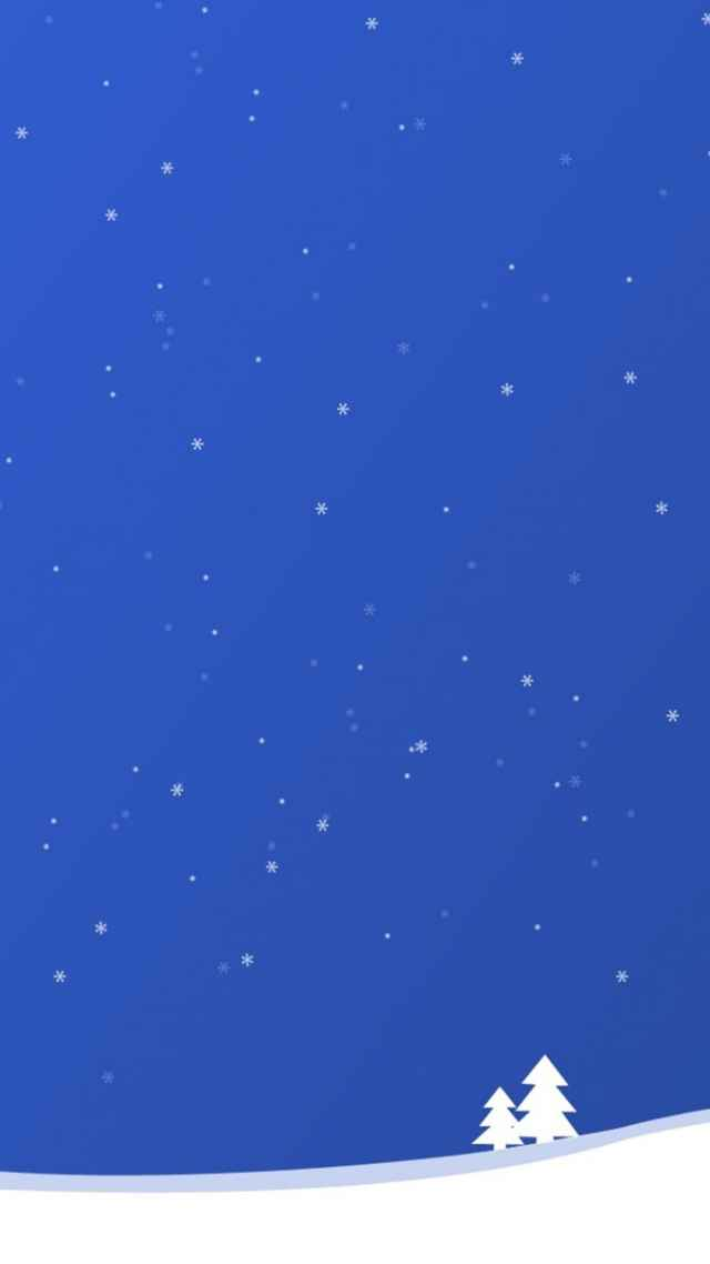 Simple Winter Illustration Android Wallpaper