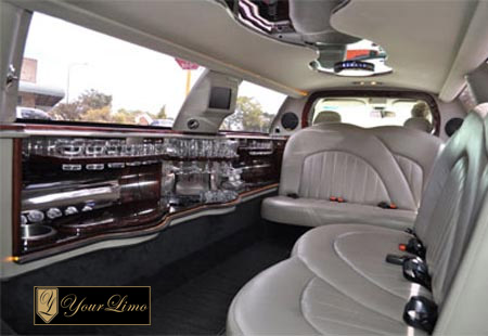 inside lincoln limo