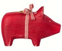 Kinder und Babygeschenke - Maileg Schwein Holz Advent rot ...